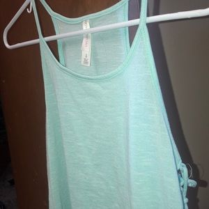 Light Turquoise Cropped Tank top